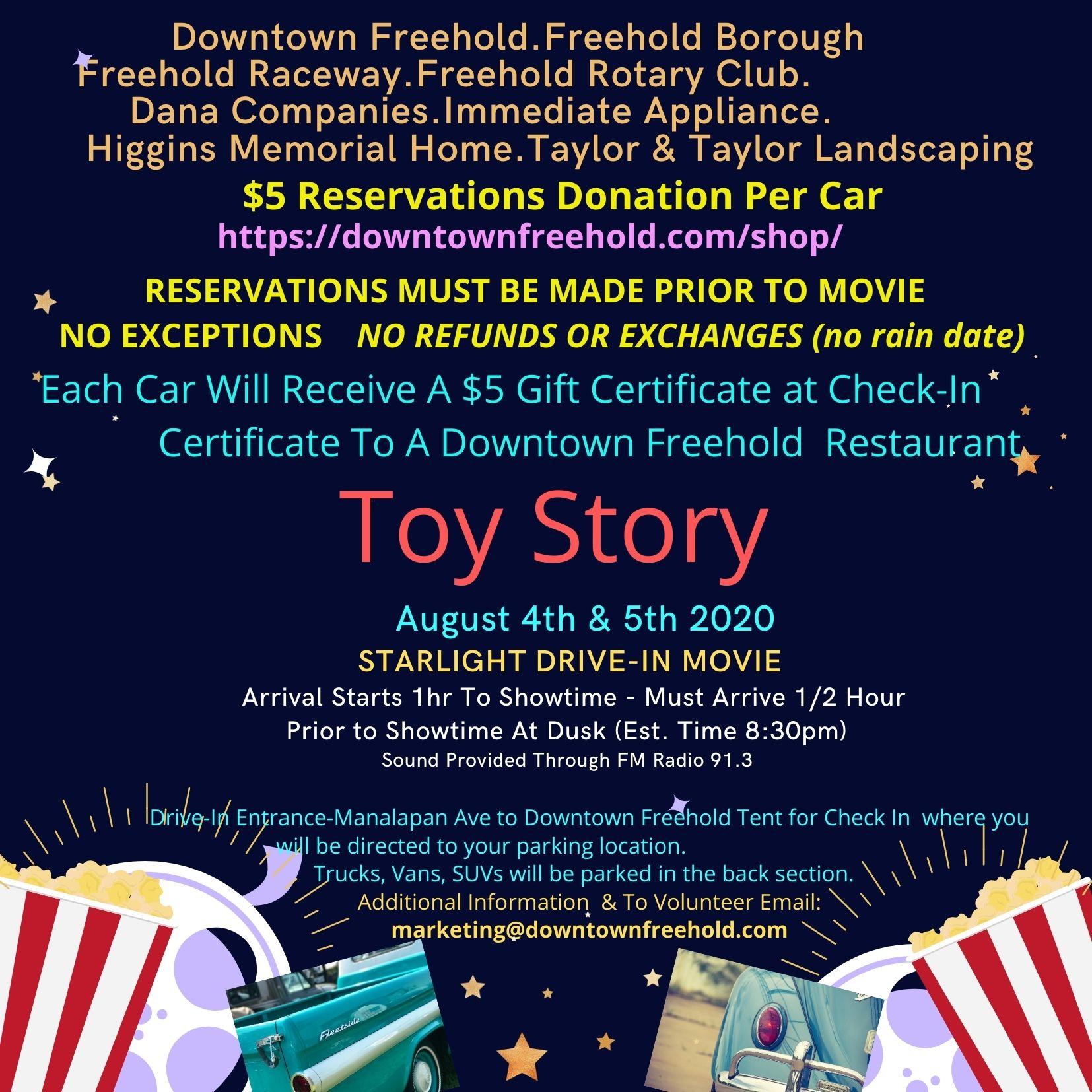 Black Popcorn Movie Night Toy Story
